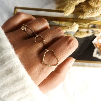bague coeur idylle or xl fait main bijoux créateur tendance