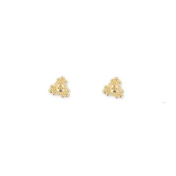 boucles d'oreilles puces bohème plaqué or