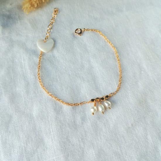 bracelet tendance perles or fait main bijoux créateur