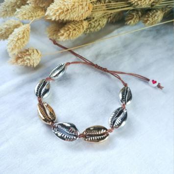 bracelets tendance coquillage argent et or fait main bijoux créateur