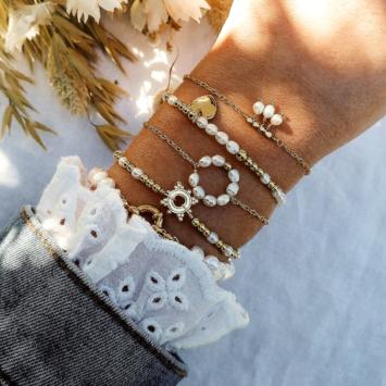 bracelets tendance fait main bracelet bohème bracelet perles eau douce blanches bijoux créateur