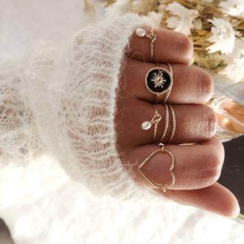 bague anneau perle bague coeur bijoux createur fait main france