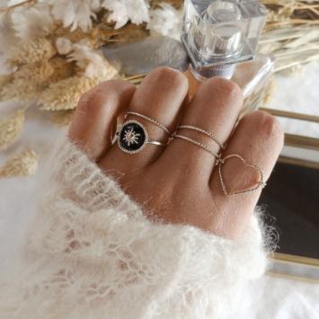 bague anneau bague coeur bijoux createur fait main france