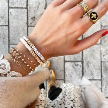bracelets mot à personnaliser bracelet heishi surfer bohème bijoux créateur fait main bijoux créateur tendance instagram flavie flaflavflavia