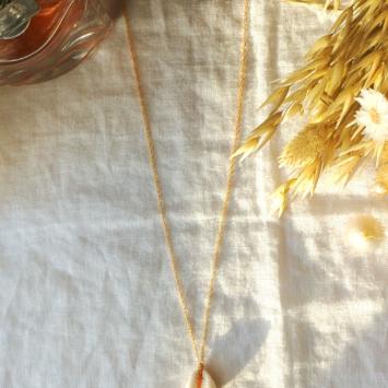 collier tendance coquillage cauri or