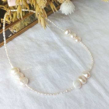collier tendance perles or fait main bijoux créateur