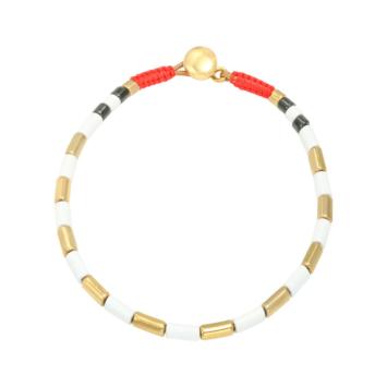 bijoux tendance bracelet perles métal émaillé email