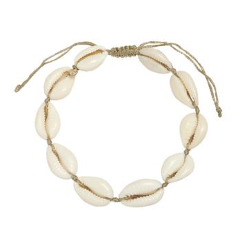 bracelet de cheville tendance coquillage cauri