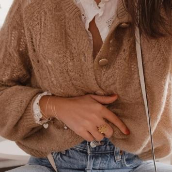 bijoux créateur tendance 7 bracelets joncs semainier destroy plaqué or fait main instagram manon @mgch_