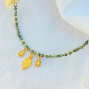 collier heishi turquoise pierre semi précieuse pendentifs bohème indien fait main bijoux créateur france