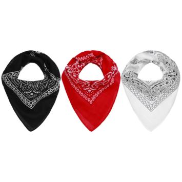foulard bandana femme noir rouge blanc mode tendance