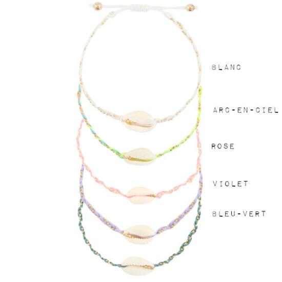 bracelets tendance coquillage cauri