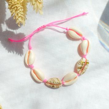bracelets tendance coquillage blanc fait main bijoux créateur