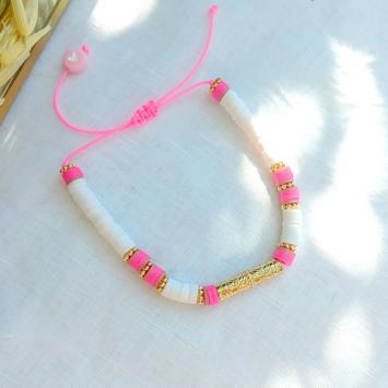 bijoux tendance fait main bracelet heishi tube balinais surfer bohème bijoux créateur