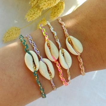 bracelets tendance coquillage cauri couleur summer