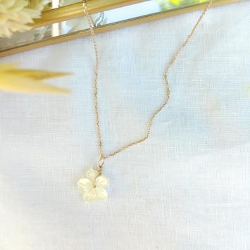 collier fleur en bijoux or fait main bijoux créateur france