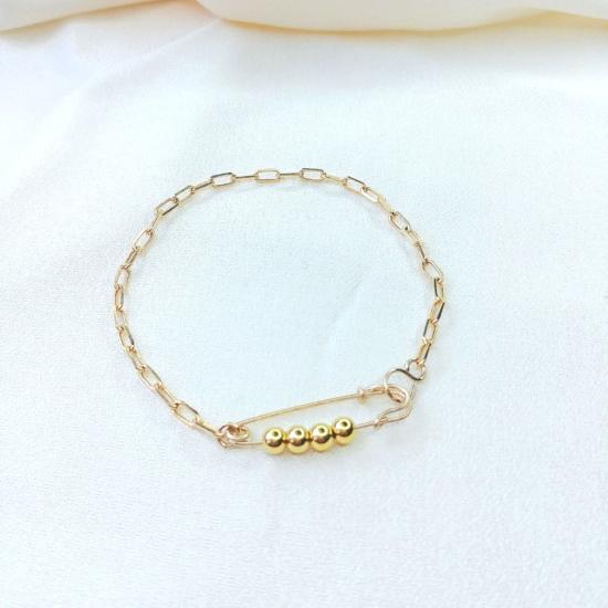 bracelet épingle à nourrice punk chic or gold filled bijoux tendance fait main france créateur