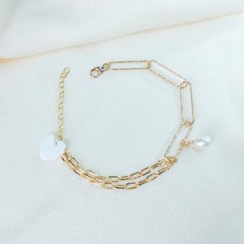 bracelet maille xl gros maillons tendance néo bourgeoise or gold filled bijoux tendance fait main france créateur