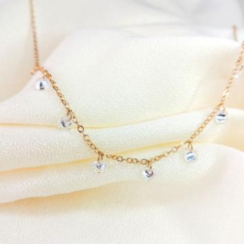 bijoux collier ras de cou pampilles cristal swarovski plaqué or france