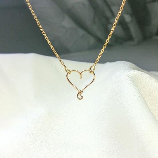 collier coeur or gold filled bijoux tendance fait main france créateur
