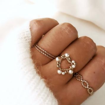 bague coeur tissage broderie perles fait main or fil gold filled bijoux createur instagram france fait main