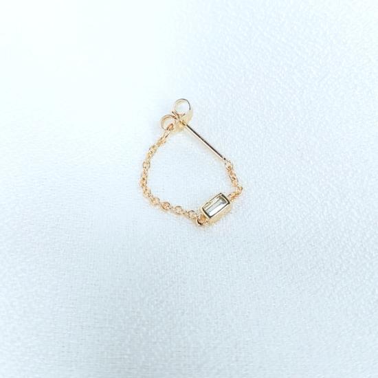 bijoux boucles d'oreilles plaqué or chaîne zircon tendance