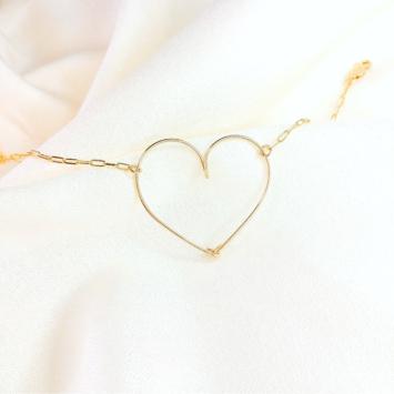 bracelet coeur or gold filled bijoux tendance fait main france créateur