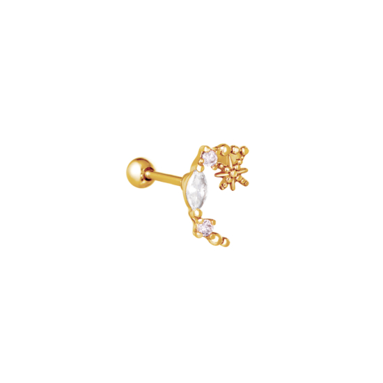 bijoux boucles d'oreilles or simple zircon scintillante accumulation