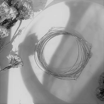 bijoux créateur tendance 7 bracelets joncs semainier destroy argent 925fait main