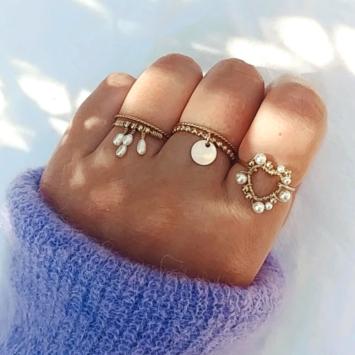 bague anneau coeur perle bijoux createur fait main france