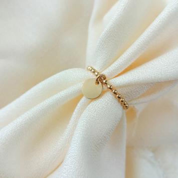 bague anneau médaille sequin fine bague à superposer bijoux createur fait main france