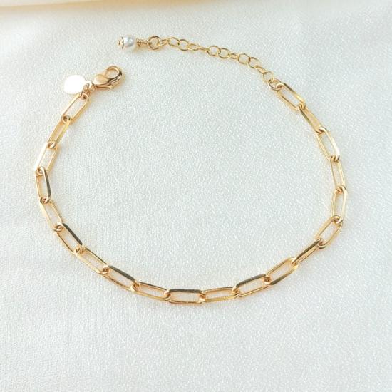 bracelet grosse maille xl gros maillons tendance néo bourgeoise or gold filled bijoux tendance fait main france créateur
