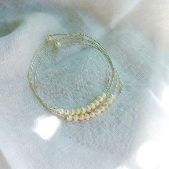 bracelets joncs semainier perles destroy argent 925 ou or fait main bijoux créateur tendance