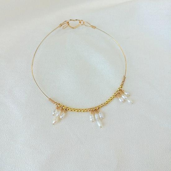 bracelet heishi nacre jonc perle eau douce bijoux or fait main bijoux créateur made in france