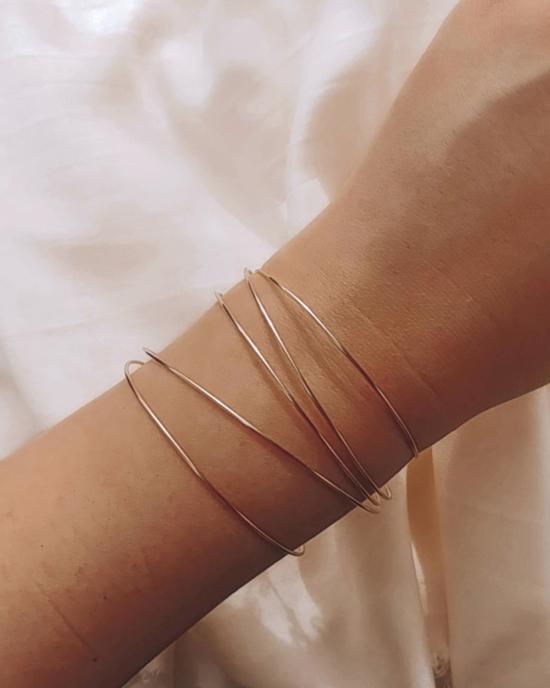 bracelets joncs semainier or simple destroy argent 925 ou or fait main bijoux créateur tendance