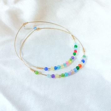 bracelets joncs semainier perles pierre agate multicolore destroy argent 925 ou or fait main bijoux créateur tendance