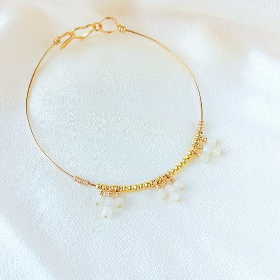 bracelet jonc pierre de lune perle eau douce bijoux or fait main bijoux créateur made in france