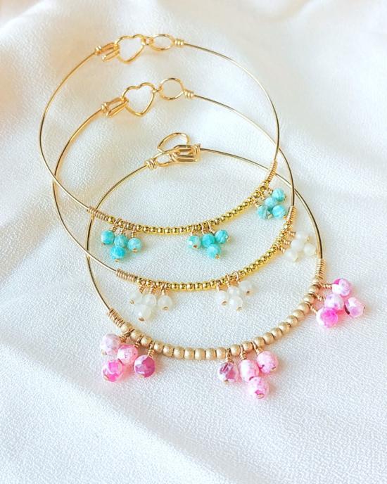 bracelet jonc perle eau douce bijoux or fait main bijoux créateur made in france