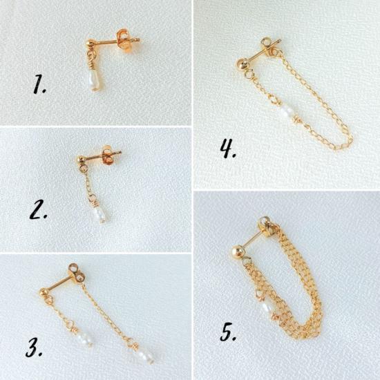 bijoux boucles d'oreilles plaqué or chaîne perle tendance bijoux créatrice france fait main